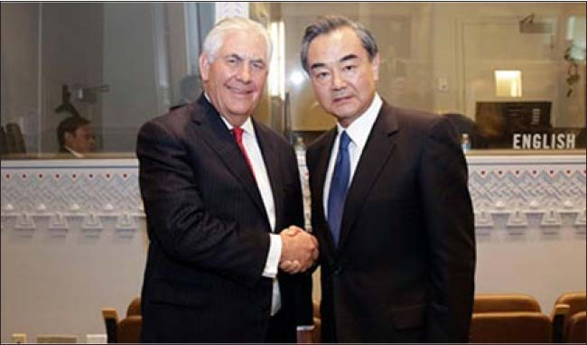 Chinese FM Meets with U.S. Counterpart on Bilateral Ties, Nuclear Issue
