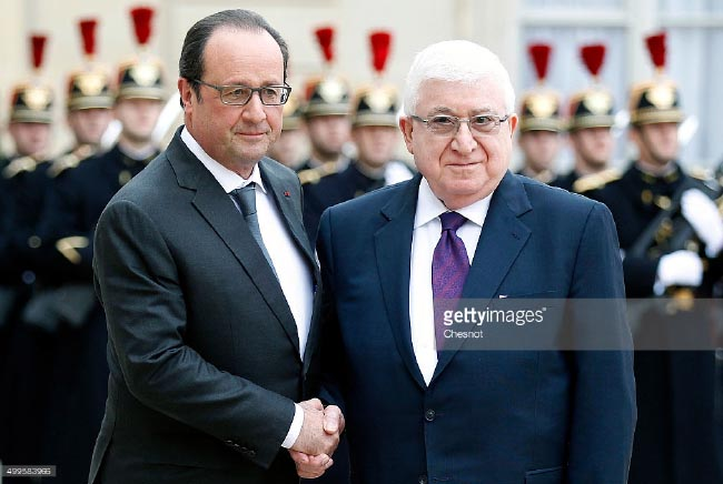 Hollande in Iraq for Meetings with Iraqi Leaders, French Forces
