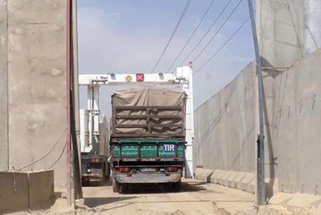 Improved Scanners for Trucks Enter at Kabul Check Points