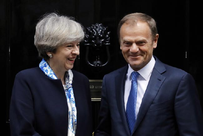 May, Tusk Meet on Brexit, Talks  Positive on Both Sides
