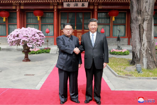 Xi Jinping and N. Korea's Kim Jong UNMeet in China