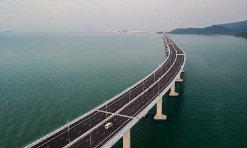 China's President Inaugurates  Hong Kong-Mainland Mega Bridge