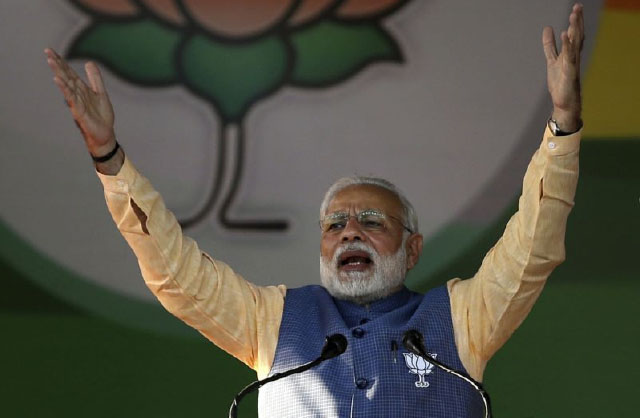 Indian Prime Minister's Party  Ahead in Key State Elections