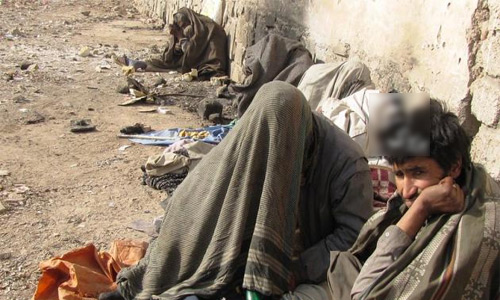 Over 30 Drug Addicts Die of Biting Cold in Herat