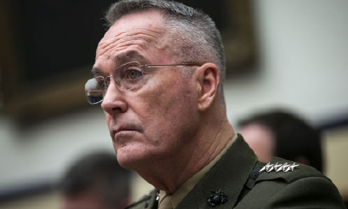 Reducing Violence  in Afghanistan is Key to  Talks, Dunford Says