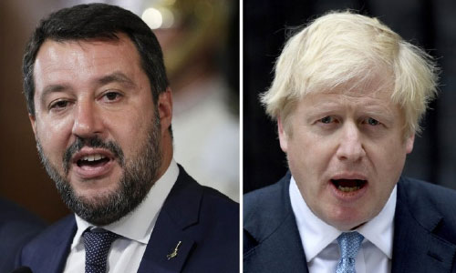 Johnson and Salvini: 2 Soaring  Stars Lose Big Political Bets
