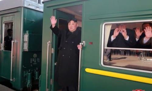 North Korea's Kim on His Way by Train  to Summit with Trump in Vietnam