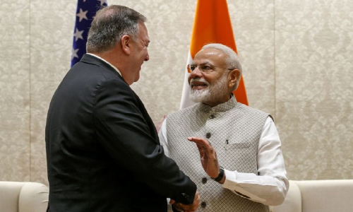 Pompeo Meets Indian Leaders  amid Trade Tensions, Iran Crisis