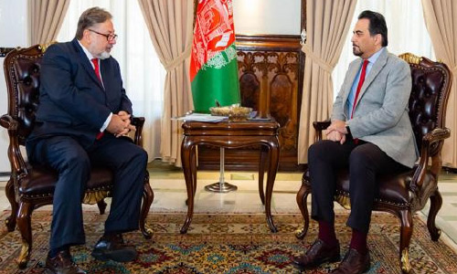 Zaman, Botsali Discuss OIC Role in  Afghan Peace Process
