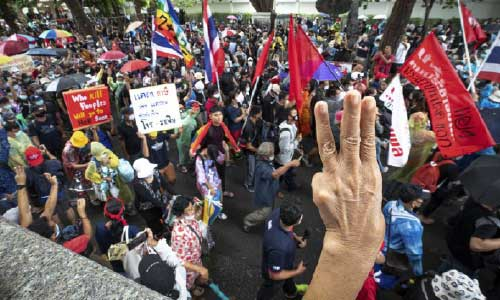 Thai protesters rally to push demands for democratic reforms