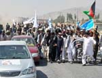WJ Protesters Block Centre of Kabul